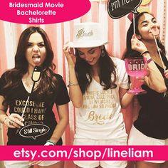 Bridesmaid movie, bachelorette shirts,bridesmaid shirts, bridesmaid tanks, funny bridesmaid shirts, funny bridesmaid tanks, team bride