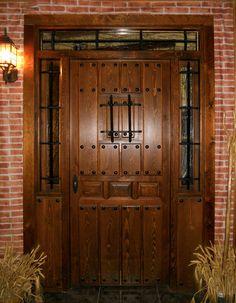 modelo Rústica 66 Beautiful Front Doors, Modern Front Door, Wood Front Doors, Arched Doors, Rustic Doors, Glass Front Door, Entrance Doors, Wooden Door Design, Front Door Design
