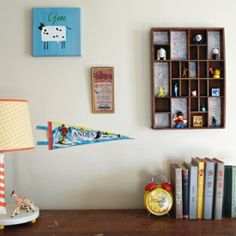 A quick way to give an old shelf a new look using maps.