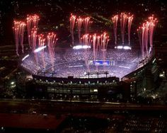Order Photograph: Aerial view of Fireworks at M&T Bank Stadium
