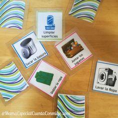 Cartas para repartir las tareas de la Limpieza de la casa