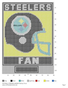 Steelers football x-stitch Plastic Canvas Tissue Boxes, Plastic Canvas Crafts, Plastic Canvas Patterns, Plastic Craft, Cross Stitch Designs, Cross Stitch Patterns, Football Crafts, Beaded Banners, Needlepoint Patterns