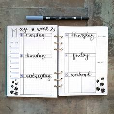 Good morning! I've been quite busy lately so this week's layout turned out quite basic. Somehow I find it a bit boring but anyway it will do . Hope you are having a great Tuesday! . . . #bulletjournal #bujo #filofax #lettering #bulletjournaling #filofax #planner #planning #bujoinspo #calligraphy #bujocommunity #journaling
