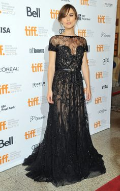 Sticking to the same fashion and Russian feel, Keira Knightley stunned on the red carpet at Anna Karenina's premiere in London & Toronto, in dresses that were oh-so-historically classic with a modern twist. Black and white. The 2 color palettes that we'll see a lot of this season. Never too revealing and overly embroidered yet so sexy for all this lack of flesh.