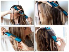 Straightening with the NuMe Megastar Straightener. The Megastar has digital temperature control and auto shut off after 30 minutes of inactivity. It has tourmaline infused ceramic plates which makes it ideal for those with thin, fine and easily damaged hair