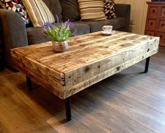 the back of the first Pallet coffee table we made.