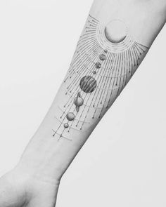 Solar System Tattoo by Jasper Andres