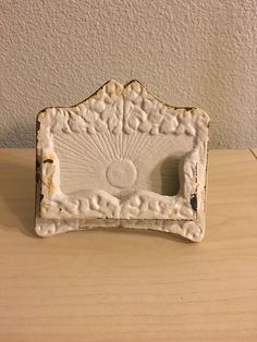 Business Card Holder Shabby Chic Vintage Office Collectible Accesory Decorcation
