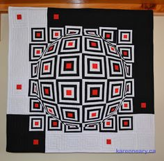 I have been waiting and waiting to post this quilt on April Fool's Day.then I realized that this year, it fell on Easter Sunday. Optical Illusion Quilts, 9 Block, I Have Been Waiting, Wish You The Best, Illusion Art, Kona Cotton, April Fools Day, Op Art, The Fool