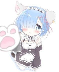 Chibi kawaii des - Re Zero Anime Neko, Lolis Neko, Manga Anime, Anime Girls, Anime Art Girl, Loli Kawaii, Kawaii Anime Girl, Desu Desu, Ram And Rem
