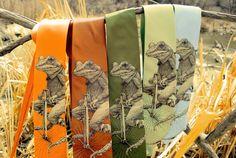 Penny Farthing Frosch Krawatte - Frosch auf Bike Herren Krawatte - Tier auf Fahrrad