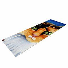 "Vinny Thompson ""Sparkle"" Orange Blue Yoga Mat"