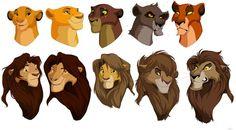 Flip Flop , Left to right top row: Simba, Mufasa, Kovu, Nuka, and Scar. Left to right bottom row: Nala, Sarabi, Kiara, Vitani, and Zira.:
