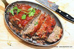 ~italian inspired bison meatloaf~