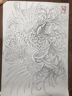 Phoenix Drawing, Phoenix Art, Phoenix Design, Phoenix Tattoo Design, Japanese Tattoo Designs, Japanese Tattoo Art, Tattoo Sketches, Tattoo Drawings, Body Art Tattoos