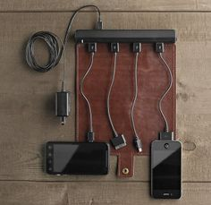 Roll-Up Travel Charger by Restoration Hardware | Holiday Gift Guide for Travellers