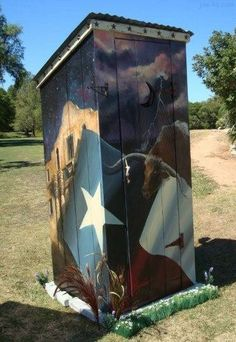 Texas outhouse picture