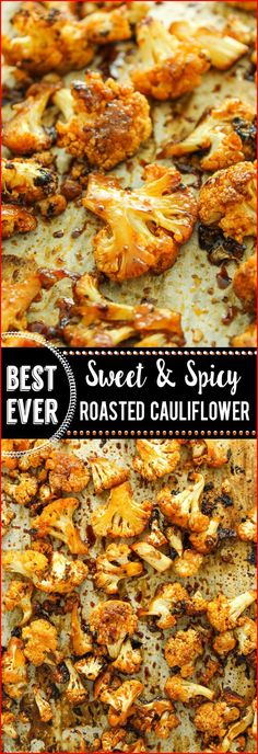 VEGAN Sweet and Spicy Roasted Cauliflower –– FAVORITE easy side dish. Toss e… VEGAN Sweet and Spicy Roasted Cauliflower – FAVORITE simple side dish. Put everything in a bag, fry it and you're done. I usually eat half of it before dinner ! Side Dishes Easy, Side Dish Recipes, Recipes Dinner, Easy Recipes, Dessert Recipes, Keto Recipes, Spicy Recipes, Breakfast Recipes, Vegan Side Dishes