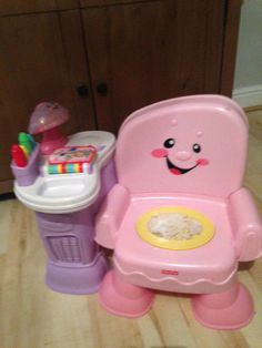 fisherprice laugh and learn musical pink chair
