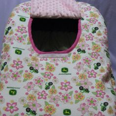 Love this John Deere baby pop hole for car seat!