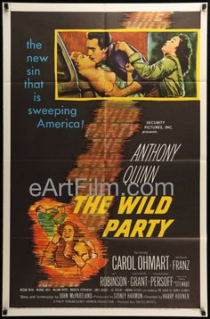 Have a great #NewYearsEve, everyone! https://eartfilm.com/products/wild-party-1956-anthony-quinn-beatnik-film-noir-27x41 #NYE2016 #HappyNewYear  #NYE #Party #TheWildParty #posters #movieposters #film #movies #cinema  Wild Party-1956-Anthony Quinn-Beatnik Film Noir-27x41