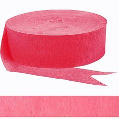 It's fun, it's bright, it's our Bright Pink Streamer! Hang and twist this Bright Pink Streamer all over your party room, from wall to wall and ceiling to floor. Wedding Streamers, Crepe Paper Streamers, Personalized Favors, Holiday Themes, Get The Party Started, Paper Decorations, Perfect Party, Bright Pink, Party Supplies