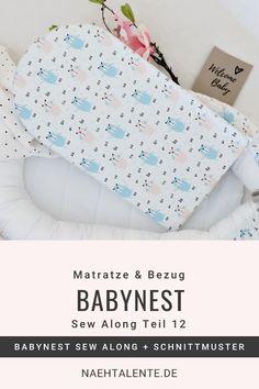 Babynest nähen: Schwedisches Babynest zum selber nähen - Kostenloser Online-Nähkurs - für Anfänger geeignet. Im letzten Teil des Sew Alongs nähen wir den Matratzenbezug mit Reißverschluss.   #nähen #babynest #baby #anleitung #nähanleitung #schnittmuster #nähenmachtglücklich #handmade #diy #sewingpattern #nähenisttoll #sew #sewing #isew #sewalong #selbernähen #nähkurs