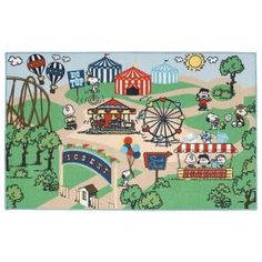 Peanuts, Friends Circus Multi 3 ft. 3 in. x 5 ft. 3 in. Area Rug, 269294 at The Home Depot - Mobile