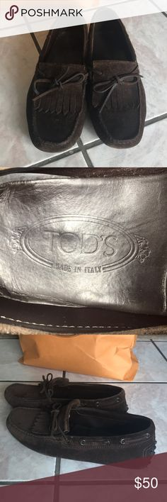 TOD'S MENS SHOES Used, size 7.5 Tod's Shoes Loafers & Slip-Ons