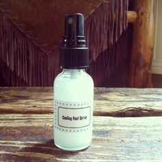 Cooling Peppermint Foot Mist #DIYpersonalcare #peppermint