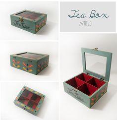 Tea Box - @EtsyItalia Team  -  #vintage #wood #50ts #teabox #te #wood #legno #tea #the #box #scatola #organized #glass #anni50 #vintage #retro #teatime #home #handmade #woodworking #50sstyle #food #teapot #cupoftea #teabags #teainspirations #decor #tearoom #etsy #decorations #decorazioni #red #collection #bluegray #kitchen #home #color #shopping #woodenteabox #teabagsachets #giftideas #cajiata #drinktea #tealovers #teaset #teaforme #valentine