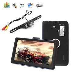 awesome HD 7'' Inch Car Navigation GPS SAT NAV 4GB 128MB Free US Maps + IR Backup Camera - For Sale Check more at http://shipperscentral.com/wp/product/hd-7-inch-car-navigation-gps-sat-nav-4gb-128mb-free-us-maps-ir-backup-camera-for-sale/