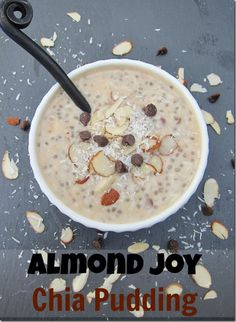 Almond Joy Chia Seed Pudding from @CarrotsNCake