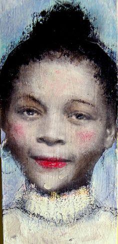 Stella African American vintage  tall  folk by MaudstarrArt,