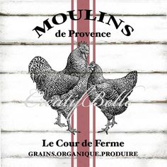 French Vintage Moulins Grain Sack Style Large A4 by CreatifBelle