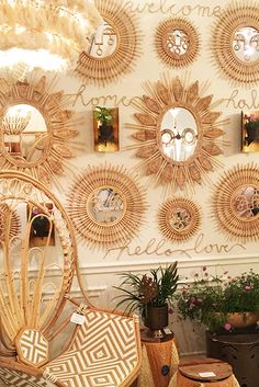 Wicker And Rattan - The Biggest New Home Trends At High Point Market - Photos Boho Chic Interior, Bohemian Bedroom Design, Bohemian Decor, Home Interior Design, Diy Bedroom Decor, Wall Decor, Home Decor, Painted Cupboards, Traditional Chairs