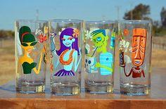 Shag Cocktail Glassware Set RARE Tiki Oasis Disney | eBay