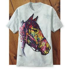 Abstract Print Horse Head Tee - Western Wear, Equestrian Inspired Clothing, Jewelry, Home Décor, Gifts