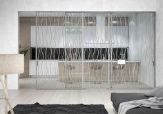 Jaké zvolit sklo do celoskleněných dveří? | O dveřích Interior Architecture, Interior Design, Sandblasted Glass, Glass Door, Divider, House, Furniture, Home Decor, Technology