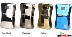 The Smok Groove Stainless, Gold Blue & Gun Metal are hot MODs right now and for good reason. If you don't know... the Smok Groove is a variable volt / watt box style APV (Advance Personal Vaporizer). What makes it so pimp is that it sports a hugh 3800 mAh battery that lasts a few days on average. Come on... a few days? Who doesn't want to vape more and charge less? http://gotsmok.com