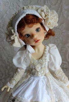 Izzy in white