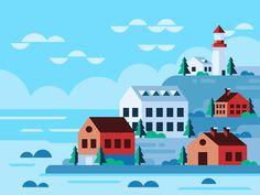 Norway by Scott Tusk #Design Popular #Dribbble #shots