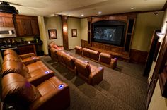 Dream Home Theatre Room. Must quit posting pictures of places I wished I lived. They're starting to make me feel unappreciative of the dump I live in.