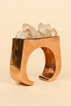 Pamela Love quartz cuff. Love uses ethically sourced stones, recycled metals and domestic production.