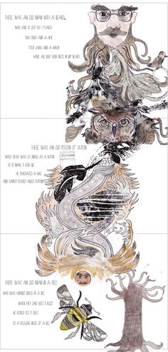 The Book of Nonsense by Edward Lear by Sarah Morris, via Behance