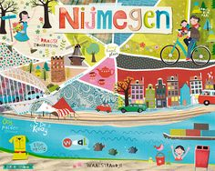 Map of my city Nijmegen (Holland) I made for Lilla Rogers Make art that sells part B.