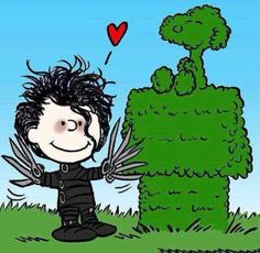 (Edward Scissorhands, Charlie Brown, and Snoopy. Snoopy Love, Snoopy And Woodstock, Peanuts Cartoon, Peanuts Snoopy, Tv Movie, Snoopy Quotes, Joe Cool, Edward Scissorhands, Charlie Brown And Snoopy