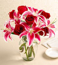 stargazer lilies and roses ♥ Perfection! MY FAV
