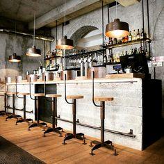 Officina lamps   Gesto Restaurant Milan
