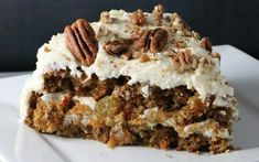 You can never go wrong with the classics, like this yummy carrot cake! This decadent cake is packed with carrots, raisins, and crunchy pecans.